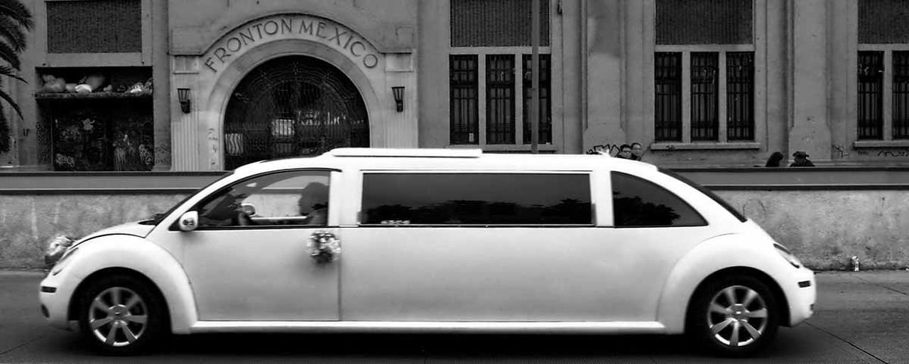 Abandoned Architecture Beetle Bizarre Black & White Blackandwhite Building Exterior Built Structure Car City Life Fronton Mexico Kitsch Limusine Mexico Mexico City Naif VW Beetle Xv Años Mix Yourself A Good Time