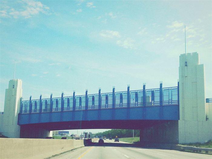 Michigan Via Georgia Road Trip Ohio Bridge Blue Freeway Highway Interstate
