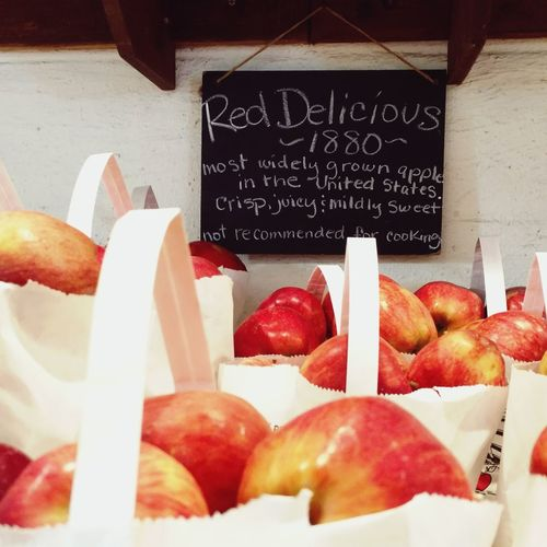 Freshness Food Food And Drink Indoors  Retail  No People Meat Healthy Eating Market Close-up Day Apple Fall Autumn Fall Colors Apple - Fruit