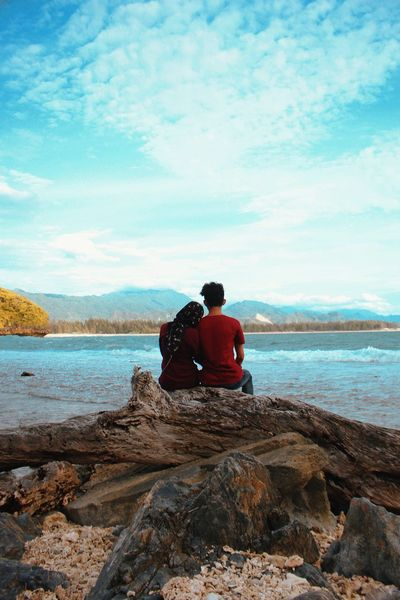Take a look Love Beach Beauty Wonderful Indonesia Aceh Aceh Tourism EyeEmNewHere Water Sea Scuba Diving Men Beach Sitting Togetherness Sky Couple I Love You
