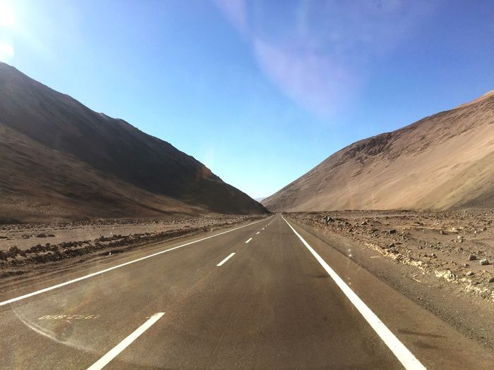 Viaje Desierto Desert Road Symbol Mountain Direction Sky The Way Forward Road Marking Scenics - Nature Transportation Non-urban Scene Nature Beauty In Nature No People Tranquil Scene Tranquility Landscape Diminishing Perspective