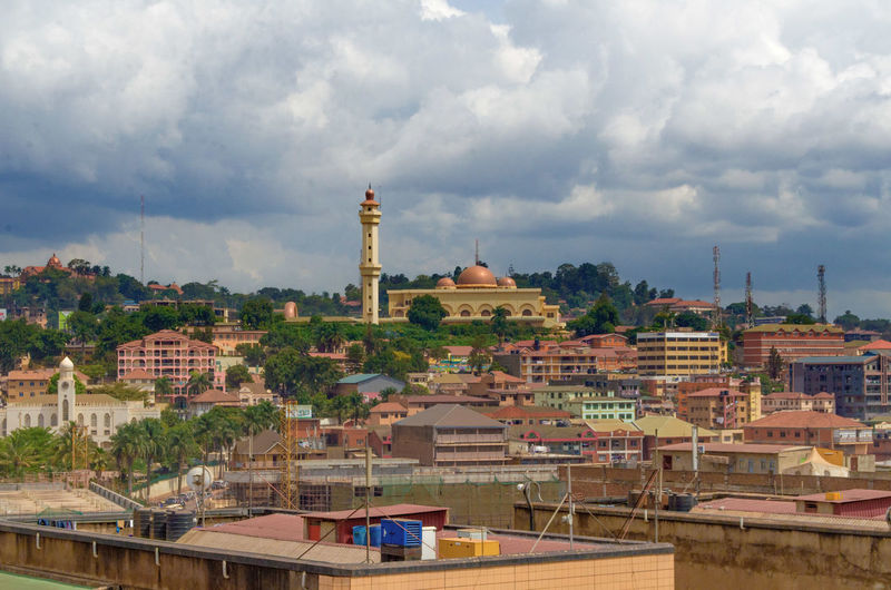 Architecture Travel Destinations Kampala Uganda  Africa Rooftops Mosque Gaddafi Mosq Dome Gold Politics And Government Development Developing Country Religion East Africa