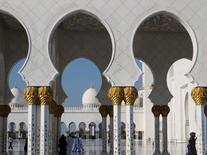 Check This Out Grand Mosque Pillars Golden Arch Architecture Abu Dhabi Design Ornaments