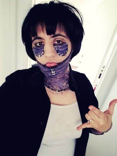 Cosplay My Hero Academia Myheroacademia Anime Lastic Makeup Young Women Portrait Looking At Camera Angry Anger Furious Displeased Arguing  Irritation