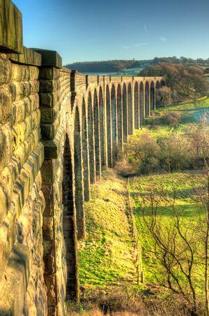 Bridge Viaduct Sunny Architecture Railway Transport Countryside