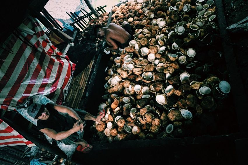 Local coconut oil production People Culture Rural Living Coconut Oil Copra Philippines