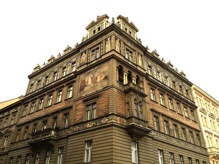 Streetcorner in Prague Czech Republic // House Building Architecture Street Corner