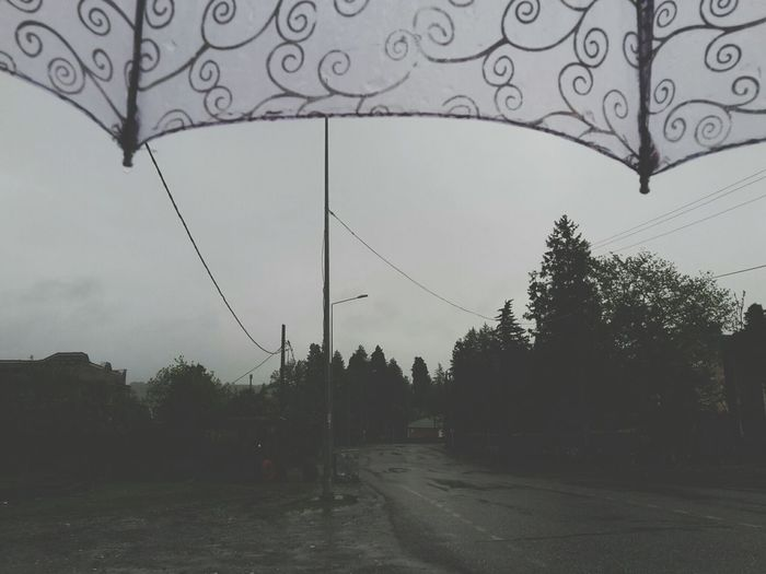 trying to be positive even in bad weather Umbrella Hard Rain Bad Weather