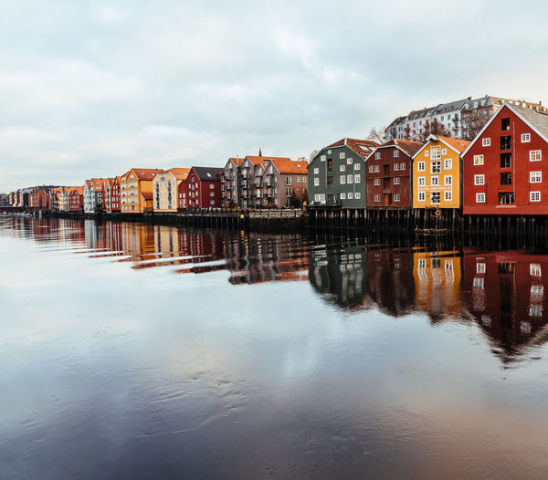 Norway Water Architecture Building Exterior Built Structure Building Sky Reflection Waterfront Cloud - Sky City Nature Residential District No People Day Outdoors House Sea Beach Row House Apartment