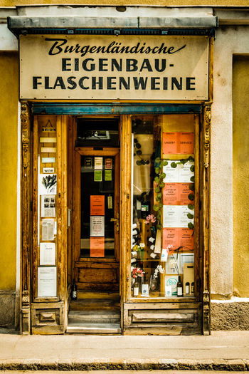 Architecture Building Exterior Close-up Day No People Old Wine Shop Window Outdoors Retail  Store Store Window Storefront Text Vintage Wine Store