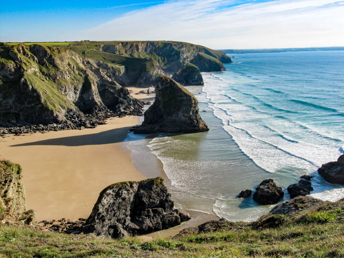 Bedruthan Steps, Mawgan Porth, Cornwall Kiomi Collection Rocks Waves Clifftop Beach Cliffs Bedruthan Steps Mawgan Porth Water Sea Cornwall United Kingdom