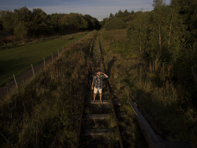 Drone  Train Tracks Day Drone Photography Growth Land Landscape Mammal Nature Outdoors Plant Sunrise Sunset Tree