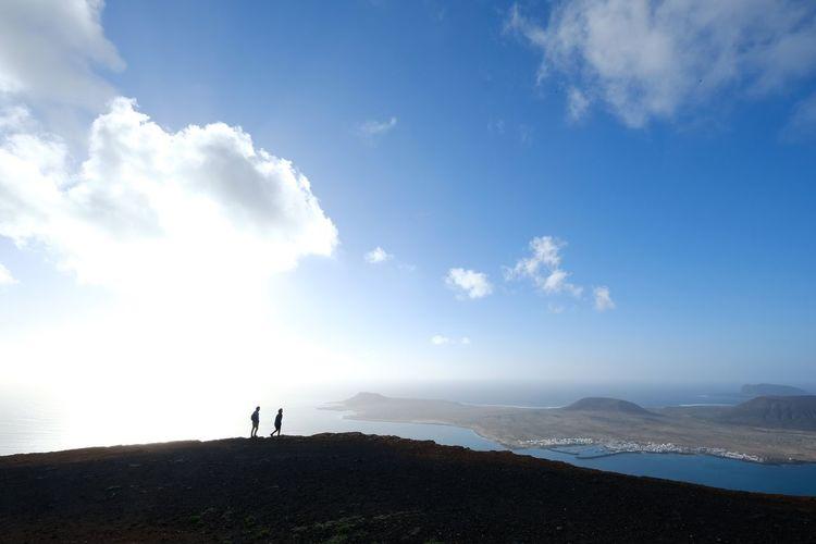 Lanzarote Lanzarote Island Lanzarote-Canarias Canary Islands Full Length Men Standing Blue Mountain Hiking Adventure Sky Landscape Cloud - Sky