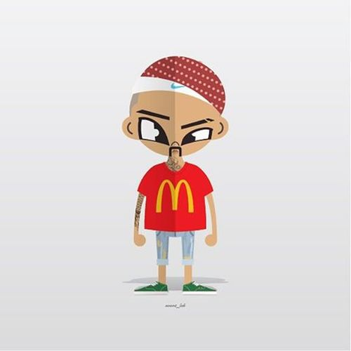 (Avant fam)맥도날두ㅋㅋ Avant_lab 일러스트 힙합 그래픽디자인 나이키 맥도날드 아방팸 Illustration Graphicdesign Nike HipHop
