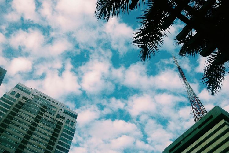 Crinkle. 23JANMMXV Looking Up Sky Clouds