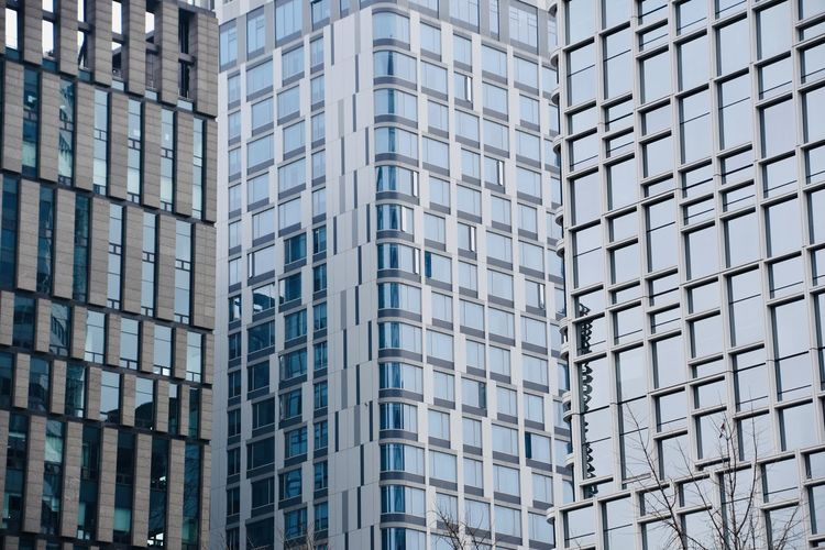 Office buildings in asia