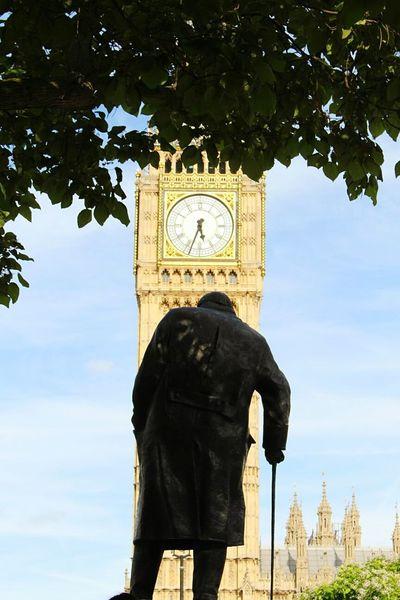 Big Ben London Winston Churchill Hello World Idyllic Westminster Abbey Westminster Westminster Bridge