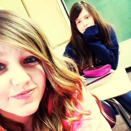My Bestie And I<3333 With My Bestie <3 Bored In Class C: haha only we take selfies in class