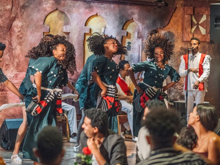 Passion Dance Addis Ababa Ethiopian Portrait Photography Ethiopia Ethiopian Photography 🇪🇹 Creativity Group Of People Art And Craft Architecture Human Representation Religion Multi Colored Representation Built Structure Belief Female Likeness People Adult Wall - Building Feature Real People