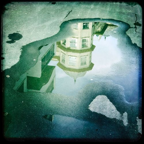 Auto Post Production Filter Transfer Print Building Exterior Architecture Water Built Structure Reflection Street Puddle Rain