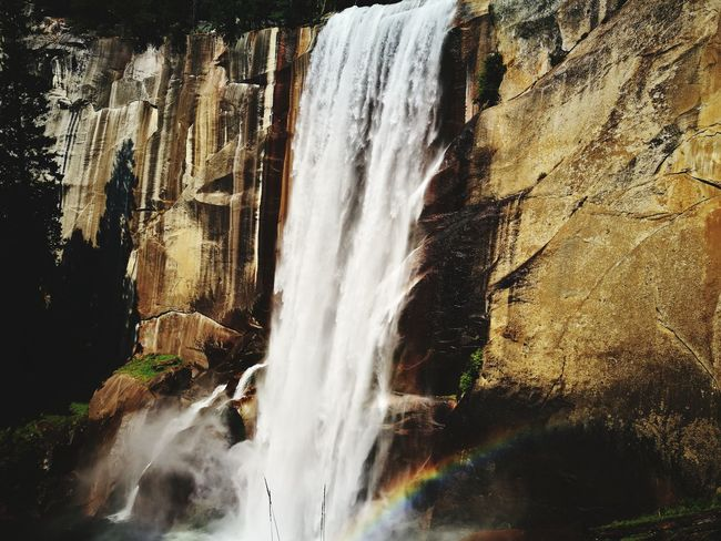 EyeEm Selects Water Waterfall Nature Outdoors Beauty In Nature Scenics Landscape Nature Mountain Rainbow The Week On EyeEm
