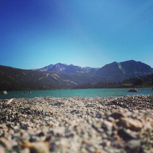 sunny day at June Lake
