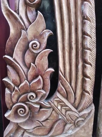ASIA Homemade Cave Close-up Craft Day Decoration Detail Handmade Indoors  Line Thai No People Sculpture Style Wood - Material