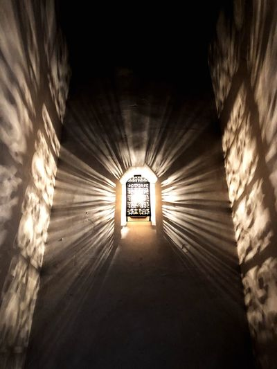 Light Illuminated Tunnel Architecture Built Structure Direction Light - Natural Phenomenon Glowing Light No People Wall - Building Feature