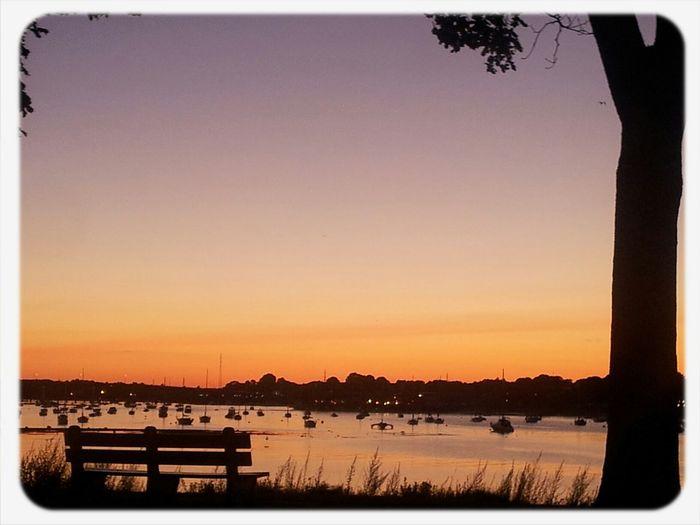 Sunset after a concert at Salem Willows 2013 Salem Willows Park Nature_collection