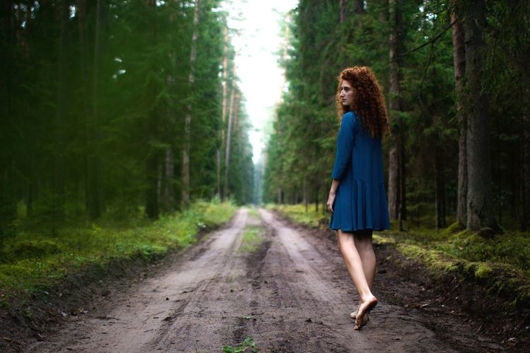 Walking away.. Tree Only Women Forest One Person Walking The Way Forward Outdoors Nature Adults Only Women People Day One Young Woman Only Full Length Adult Young Adult Fashion Modelphotography
