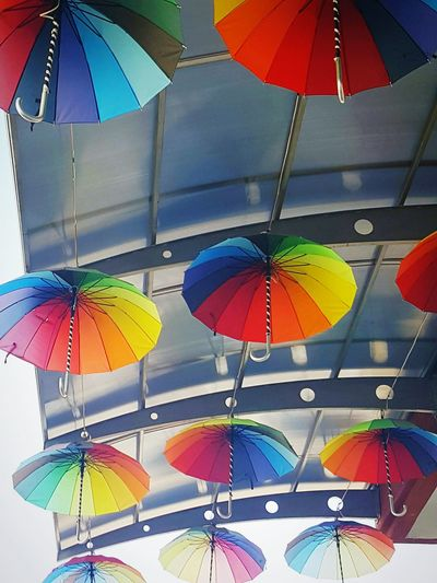 Multi Colored Protection Umbrella Umbrellas Umbrellas Decoration Belec Umbrellas Belec Sunshades Sun Shades Amount Colourful