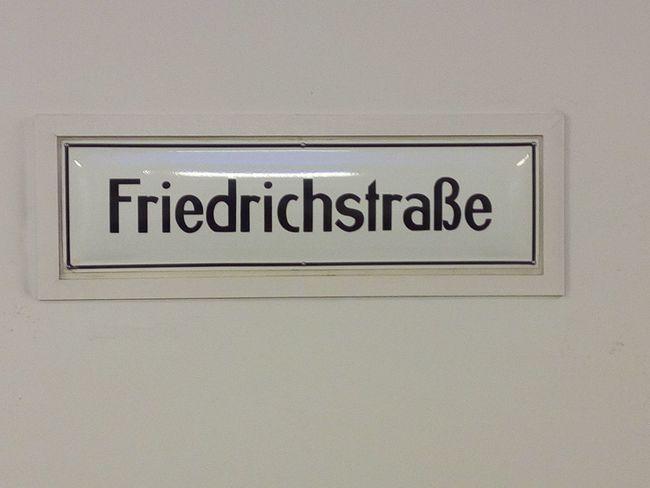 U-Bahhof Friedrichstrasse Close-up Nameplate No People Schild