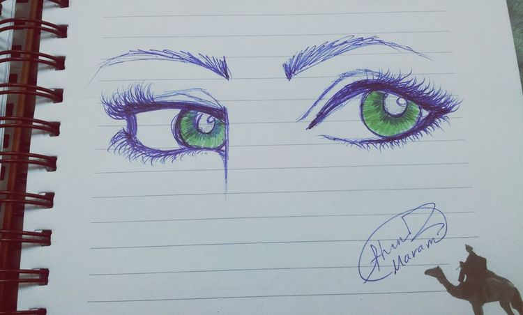 Artwork By Me Quick Sketch Art Green Eyes