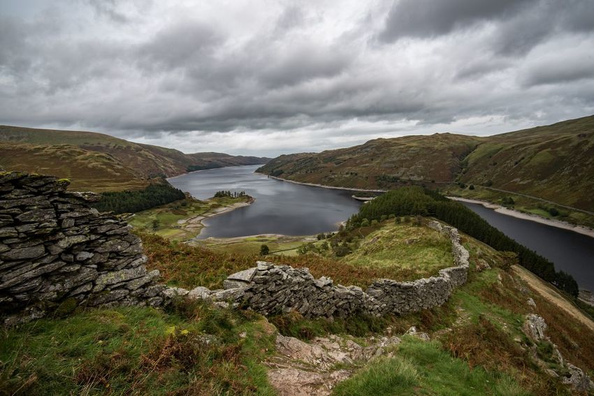 Looking down on Haweswater, Cumbria Walking Hiking Views Landscape Landscape_photography Nature Photography EyeEm Gallery Eye4photography  Nature_collection Nikon Clouds And Sky Sky And Clouds The Lake District  Haweswater Reservoir Cumbria Landscape_Collection Water Collection  Cloud - Sky Water Sky Beauty In Nature Scenics - Nature Tranquility Tranquil Scene Mountain Nature Non-urban Scene Day