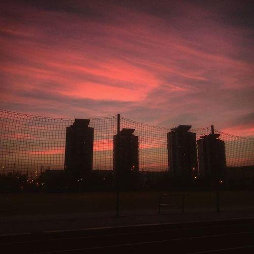 Sunset Redsunset Red Clouds Polkowice Hubala Zachod Czerwone Słońce Instadaily