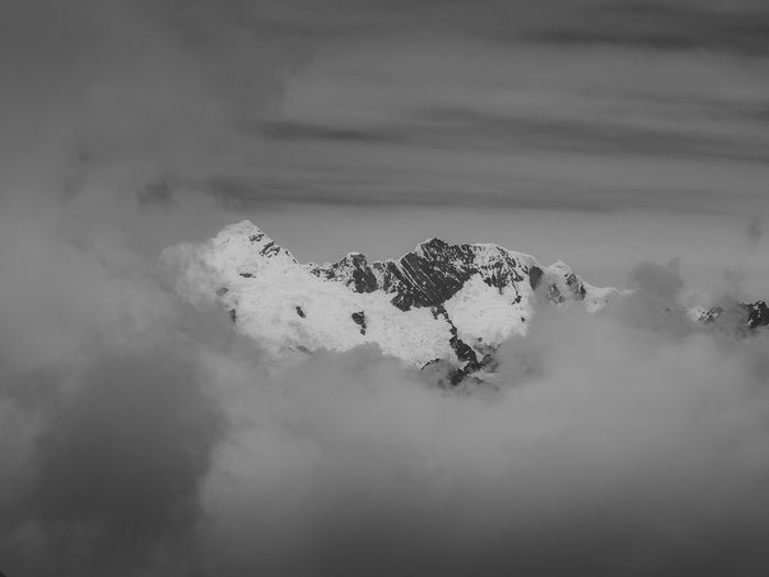Beauty In Nature Cloud - Sky Sky Scenics - Nature Mountain No People Tranquil Scene Tranquility Environment Cold Temperature Winter Fog Day Nature Non-urban Scene Snow Outdoors Land Idyllic Mountain Peak