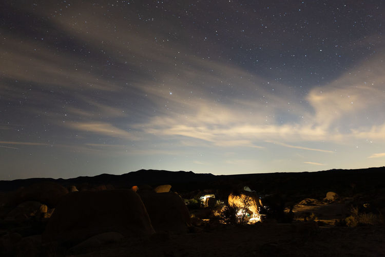 Sky Night Star - Space Scenics - Nature Nature Beauty In Nature No People Land Environment Cloud - Sky Tranquil Scene Tranquility Space Camping Non-urban Scene Idyllic Fire Rock Landscape Burning Astronomy Bonfire