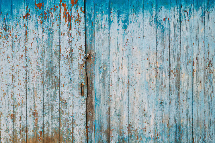 Full frame shot of weathered wooden fence