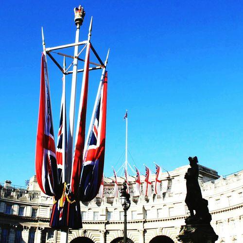 Royal Wedding London 2011 Flags Outdoor Photography Blue Sky