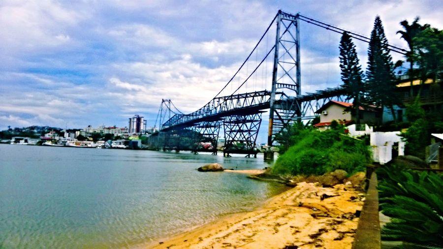 Bridge - Man Made Structure Bridge Bridges Florianópolis Florianópolis Brasil Florianópolis - SC Bridge View Sea And Sky Sea And Bridge Beachphotography Beach