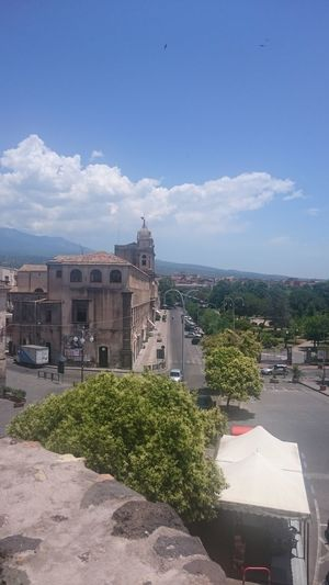 Etna, Mountain, Sicily, Sicilian View, Cityscape Architecture Outdoors City Adrano Bronte