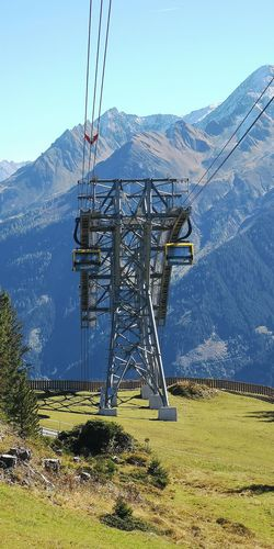 Technology Mountain Tree Electricity  Electricity Pylon Cable Fuel And Power Generation Ski Lift Overhead Cable Car
