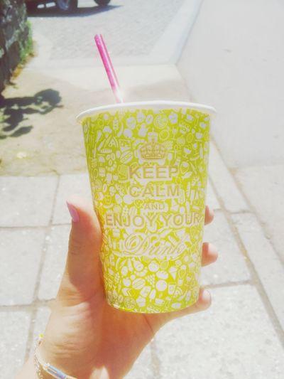 Keep Calm Enjoy Your Drink Enjoying Life Sunny Day Beautiful Day Drink Hello World ThatsMe