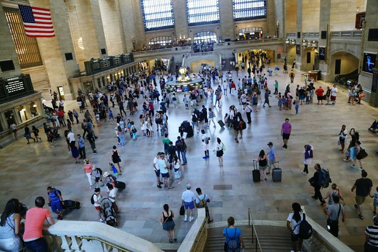 Flying High Grand Central Station.... People Women Men Tourism Travel Destinations Large Group Of People Travel Leisure Activity Indoors  Day