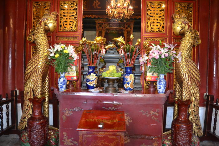 Day Gold Gold Colored Hanoi Vietnam  Illuminated Indoors  No People Place Of Worship Statue TaoistTemple Vietnam Trip