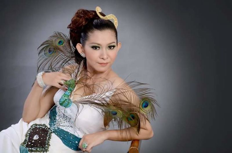 Gown Peacock Art Exotic Beauty