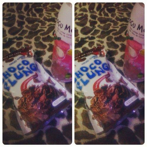 LAMON. Midnight snack is harthart! ü CHOCOPLUNGE Mogumogu Bigsize Happiness