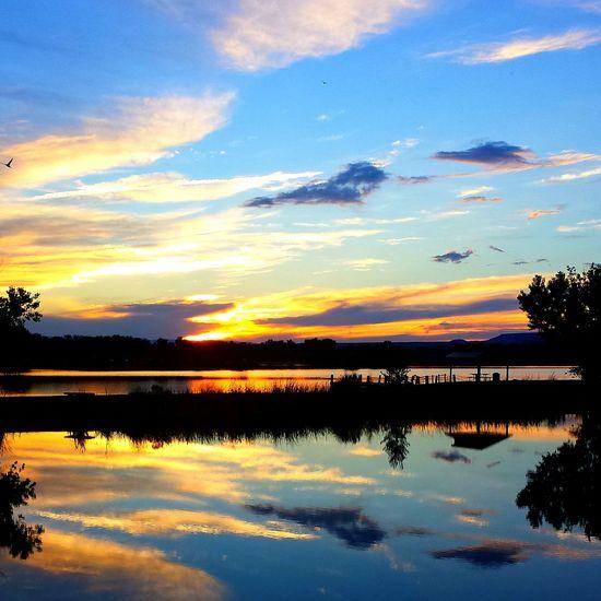 Sunset Confluence Lake Colorado Contrast