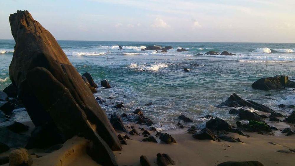 Colour Of Life Sri Lanka Unawatuna Beach Rocks Sea Beachlife Nature