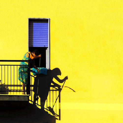 Exploring Style Yellow One Person Architecture Adults Only Lucidistortephoto Day People